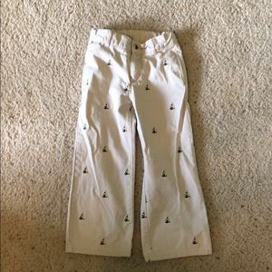 Janie and Jack Embroidered Sailboat Pants